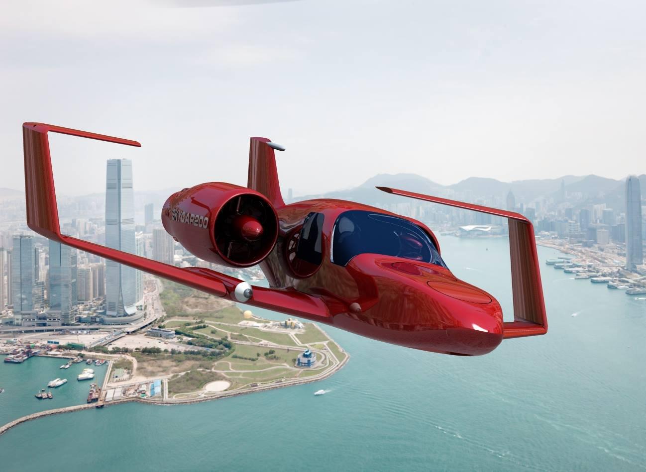 Картинка летающей машины будущего